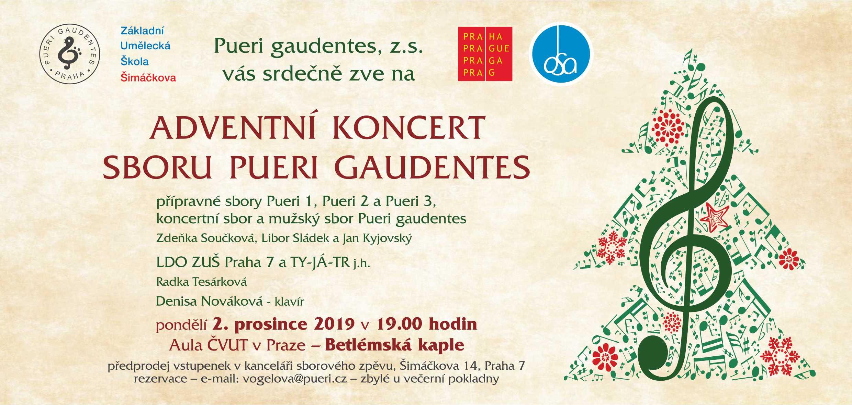 PUERI GAUDENTES pozvánka na adventní koncert 2019