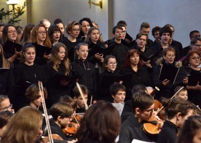 Česká mše vánoční 1.12.2019 - kostel U Salvátora. Poheld na orchestr a sbor.