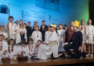 Adventní koncert Pueri gaudentes 9.12.2019 - Betlémská kaple. Pohled na žáky literárně-dramatického oboru.