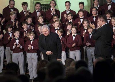 Adventní koncert Pueri gaudentes 9.12.2019 - Betlémská kaple. Pohled na pana učitela E. Hradeckého