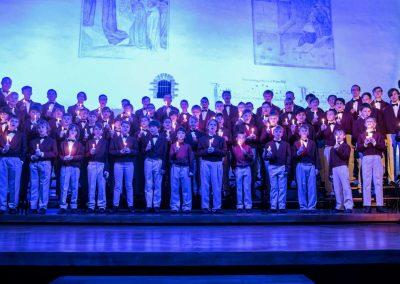 Adventní koncert Pueri gaudentes 9.12.2019 - Betlémská kaple. Pohled na zpívající koncertní sbor.